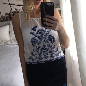 Charlotte Russe embroider top